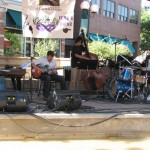 Performing with the Mark Sloniker Quartet at the Fort Collins Jazz Festival.