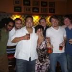 Celebrating after a great gig (Boulder, CO '09)